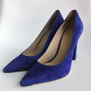 Elizabeth and James Vino Pointed Suede Heels